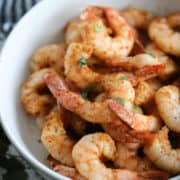 the shrimp air fryer recipe ready to serve