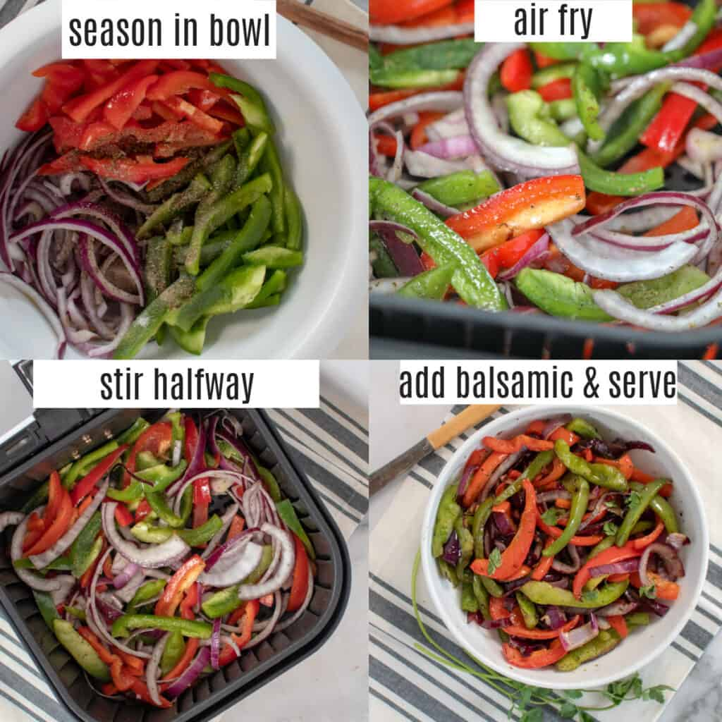 bell peppers air fryer recipe steps
