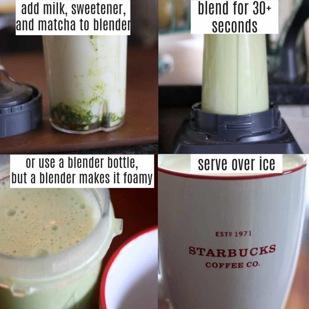 iced matcha latte starbucks copycat recipe steps