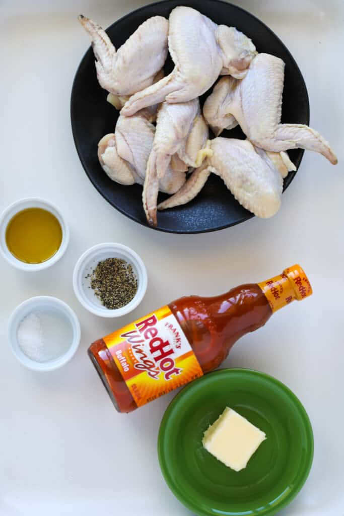 ingredients for how to air fry whole wings