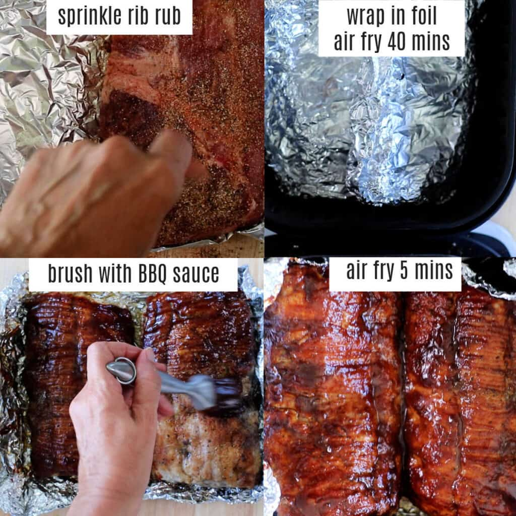 how to cook pork ribs air fryer steps