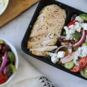 greek salad meal prep for lunch in meal prep containers