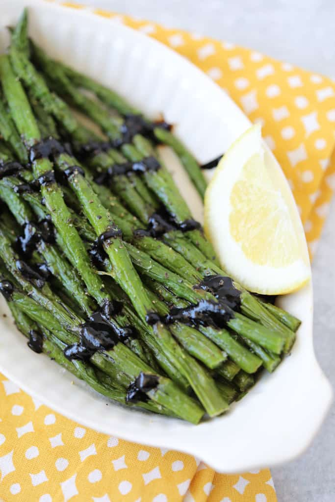 frozen asparagus in air fryer recipe with glaze after cooking