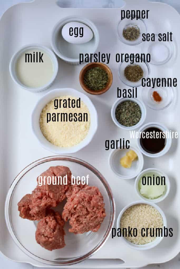 ground beef meatball recipe air fryer ingredients list