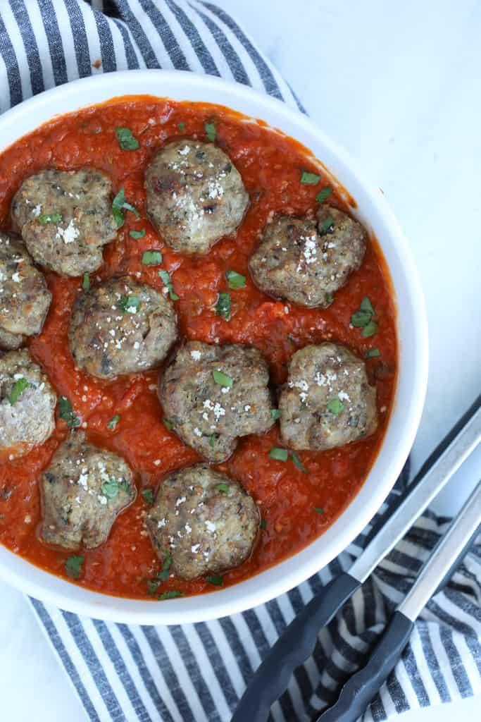 meatballs in air fryer in sauce