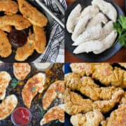 how to cook chicken tenderloins recipes collage of images