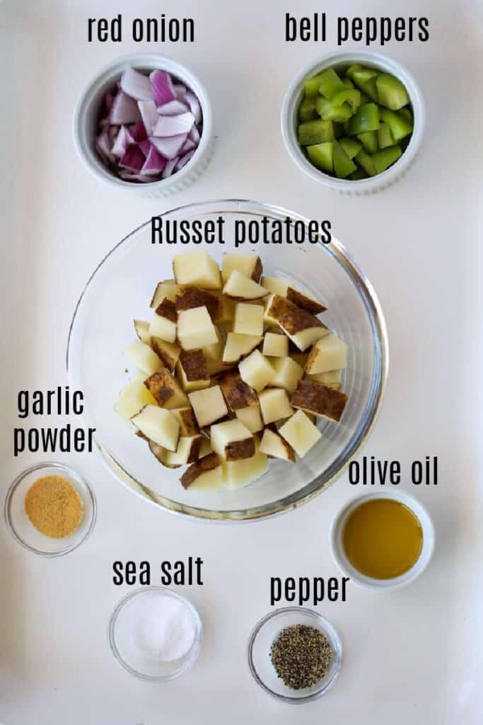 home fries air fryer recipe ingredients