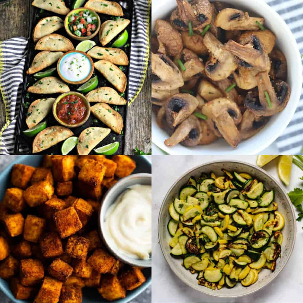 plant based air fryer recipes collage