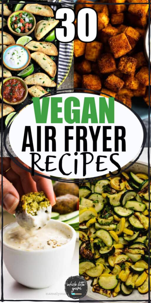 plant based air fryer recipes pin